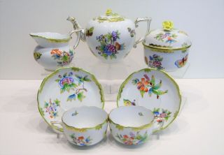 Herend Queen Victoria - Tea Set For 2 Persons