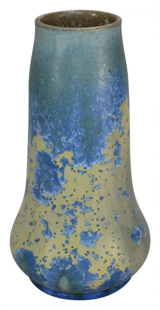 Thomas Gotham California Crystalline Arts And Crafts Pottery Blue Ceramic Vase