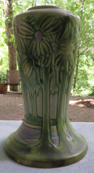 Roseville Pottery Arts & Crafts Large 10 Inch Vista Or Forest Vase