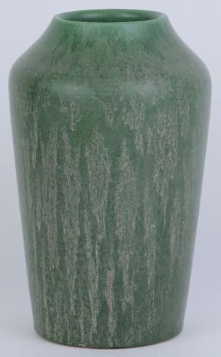 "Hampshire Pottery Arts & Crafts Matte Green 7 "" Vase Spectacular Glaze"