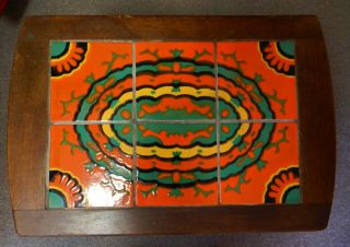 Vntg Catalina Art Pottery Tile Table,  Mission Style Arts & Crafts Era Tile Table