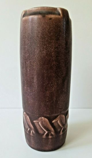 Rookwood Arts & Crafts Art Pottery 1922 Buttress Rooks Birds Vase 1815 Purple