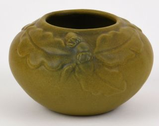 Van Briggle Vase Arts And Crafts Design With Acorns Dated 1916