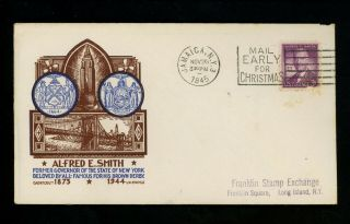 Us Fdc 937 Cachet Craft / Staehle M - 8 1945 Jamaica Ny Alfred Smith Unofficial