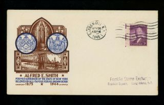 Us Fdc 937 Cachet Craft / Staehle M - 8 1945 Garden City Ny Smith Unofficial