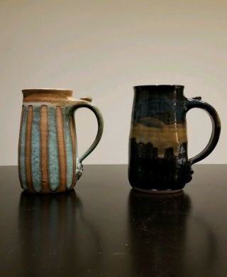 Mangum Pottery Mugs Weaverville North Carolina Hand Crafted
