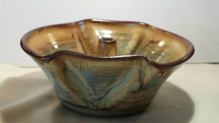 Glazed Pottery Bundt Bowl From Southern Highland Craft Guild,  Nc,