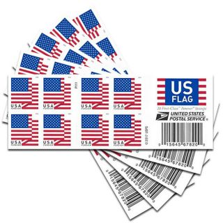 5 Books Of 20 Us Flag Usps Forever Stamps - 2018