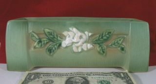 Roseville Pottery Green Gardenia Window Box Planter Arts Crafts Bonsai Buttress