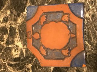 Vintage Arts & Crafts Style Mercer Moravian Pottery & Tile Tile