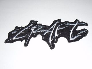 Craft Black Metal Iron On Embroidered Patch