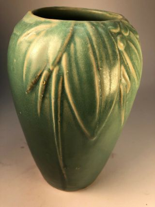 Mccoy Matte Green Jar Old Pottery Ceramic Vase Arts And Crafts