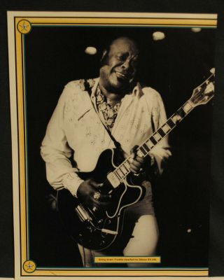 1997 Freddie King On Stage With Gibson Es - 345 Guitar Pinup Poster