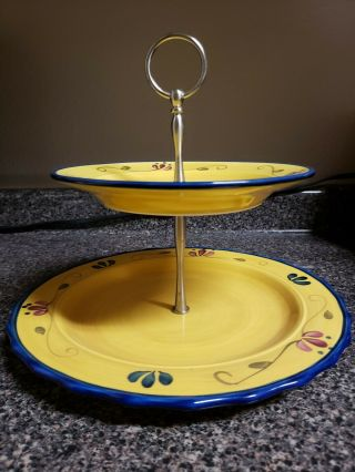 Home & Garden Party Welcome Home 2 Tier Serving Plates