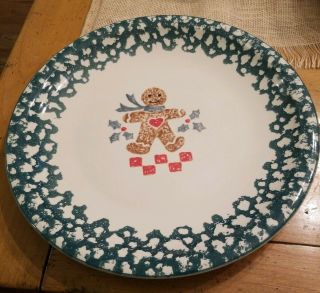 "Folk Craft Gingerbread 12 "" Platter"