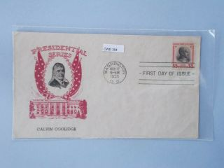 Fdc 834 Coolidge Cachet Craft 43 Cachet 6826