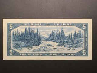 1954 Bank Of Canada $5 Bank Note - Unc Low Number L/s 0000004