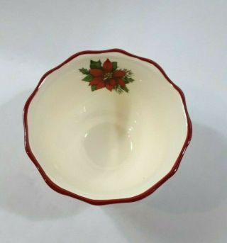 Better Homes And Gardens 2009 Limited Edition Poinsettia Small Bowls Set Of 2