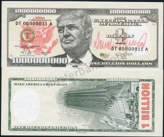 20 Donald Trump Billion Dollar $1000000000 Fantasy Notes