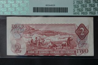 Error 1974 Bank Of Canada $2 Two Dollar Bc - 47aa - I Printed Out Of Register
