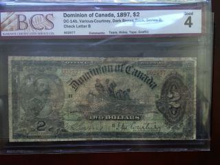 Dc - 14b Dominion Of Canada 1897 $2 - Banknote