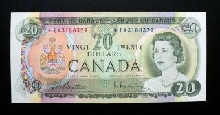 1969 Bank Of Canada $20 Dollars Replacement Note Ex 3188329 Bc - 50aa