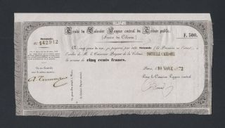 Caledonia 500 Francs 1872 (pick Unlisted) Aunc