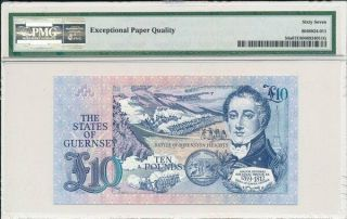 The States of Guernsey Guernsey 10 Pounds ND (1991 - 95) PMG 67EPQ 2