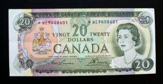 1969 Bank Of Canada $20 Dollars Replacement Note We 9408601 Bc - 50ba