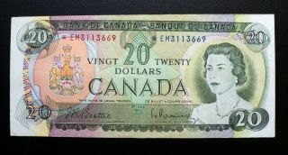 1969 Bank Of Canada $20 Dollars Replacement Note Em 3113669 Bc - 50aa