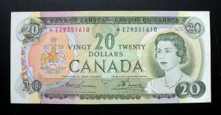 1969 Bank Of Canada $20 Dollars Replacement Note Ez 9351610 Bc - 50ba