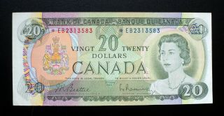 1969 Bank Of Canada $20 Dollars Replacement Note Eb 2313583 Bc - 50aa