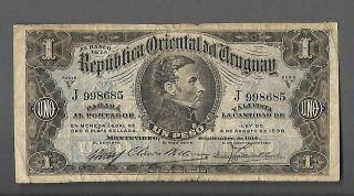 Uruguay - 1 Peso - 1914 Issue - Pick: 9a (condition:please See The Scans)
