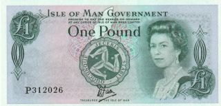 Isle Of Man 1 Pound Banknote Nd (1983) P.  38a Uncirculated