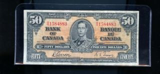 1937 Bank Of Canada $50 Gordon Towers Cp03