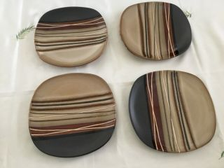 Home Trends Bazaar Brown Better Homes And Gardens 4 Salad Plates