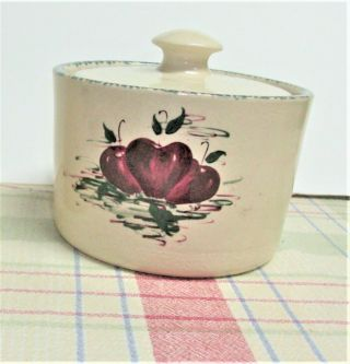 Home & Garden Party Apples Stoneware Butter Crock (or Large Sugar Bowl)