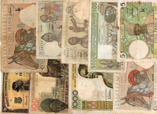 French West Africa & West African States - 10 Notes -