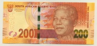 South Africa 200 Rand Nd 2016/17 Pick 142.  B Unc Uncirculated Banknote Mandela