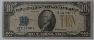Us Paper Money 1934 - A North Africa World War Ii Silver Certificate Note