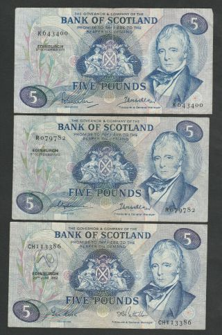 F21 Scotland 3 Year Var.  For P112 Fivers Inl.  Early 1971 Date