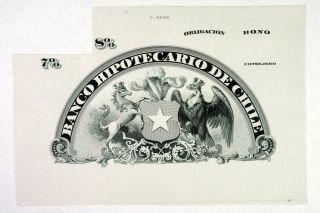 Chile.  Abn Proof Vig Bond Top.  Banco Hipotecario De Chile 1880 - 1910 Au