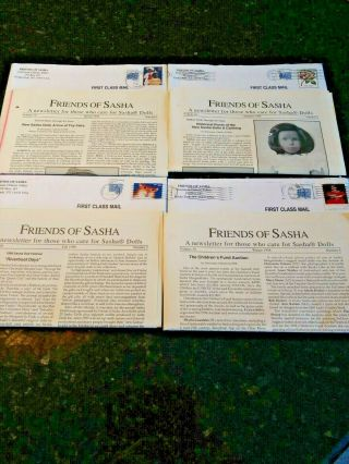 Vintage 1998 Friends Of Sasha Newsletters With Doll Articles And Crafts