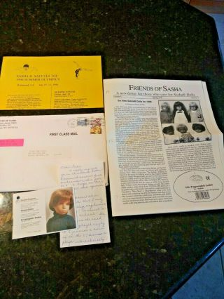 Vintage 1996 Friends Of Sasha Newsletters With Doll Articles And Crafts