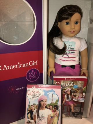 American Girl Grace Thomas Doll Nrfb Pierced Ears With Bonus Dvd Movie