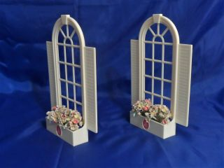 1990 Barbie Magical Mansion Replacement Parts - Arched Windows w/ Flower Boxes 3