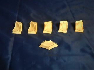 1990 Barbie Magical Mansion Replacement Parts - Roof Corner Trim Supports (6) 2