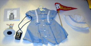 American Girl Molly Route 66 Dress,  Hat Donkey,  Camera,  Photos And Pennant