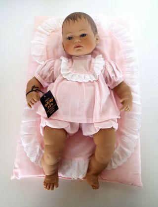 "Heidi Ott Baby Doll 1987 Hand Crafted 15 "" Artist Signed 5087g Switzerland"