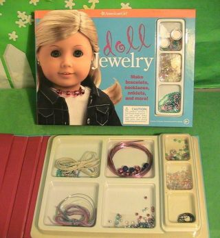 American Girl Doll Jewelery Craft Set With Extra Set Of Supplies